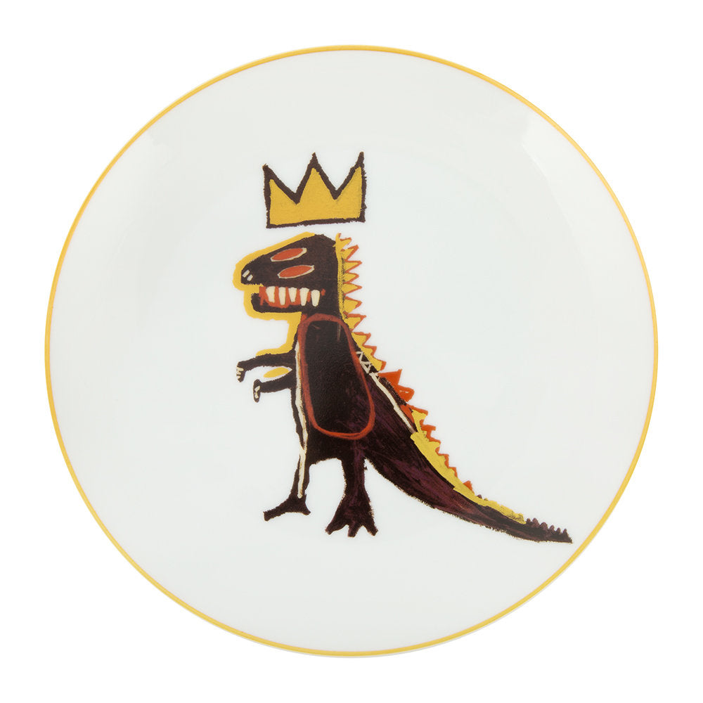 Gold Dragon Plate by Jean-Michel Basquiat