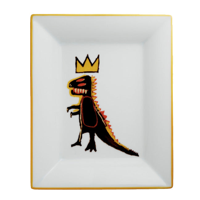 Golden Dragon Tray by Jean-Michel Basquiat