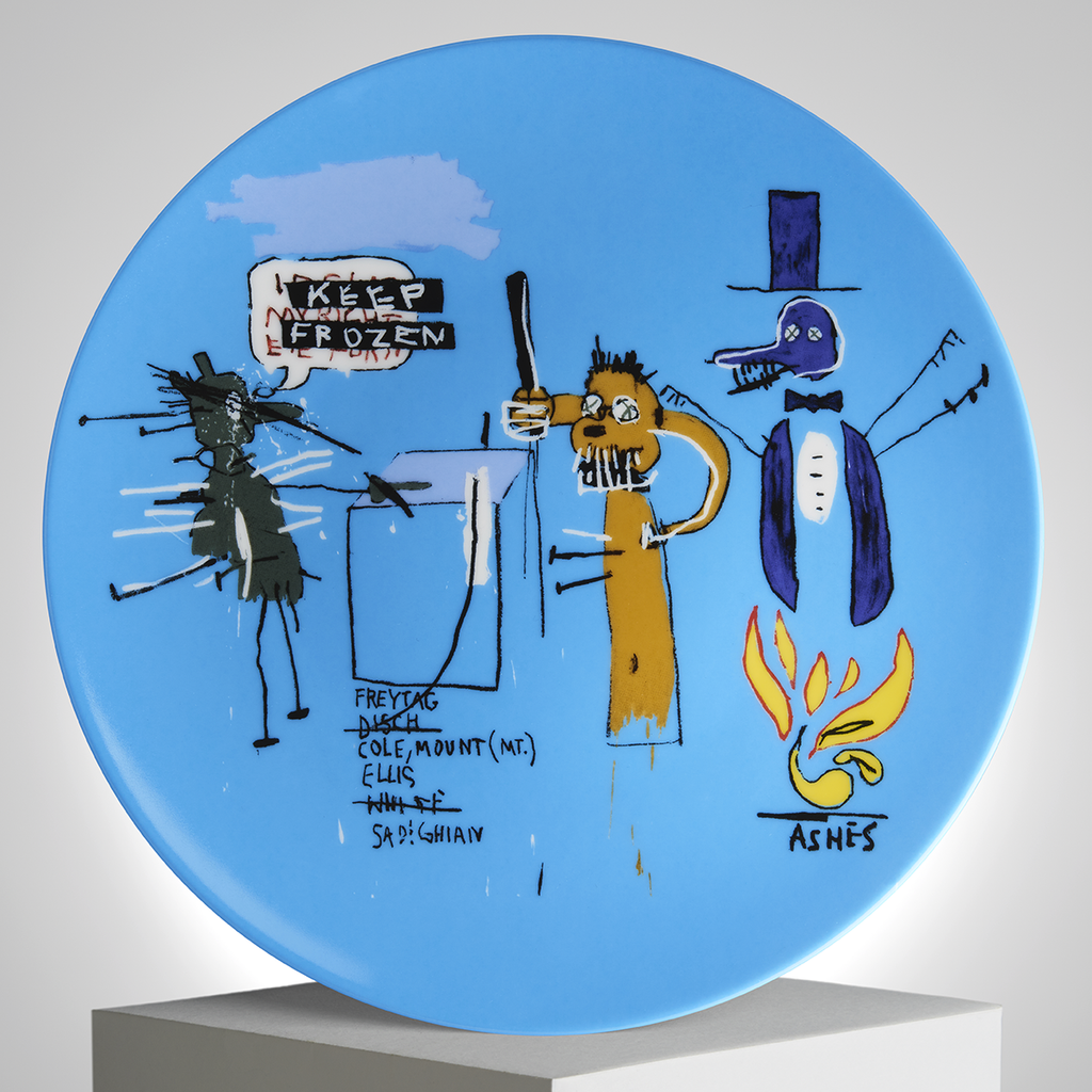 Keep Frozen Plate by Jean-Michel Basquiat