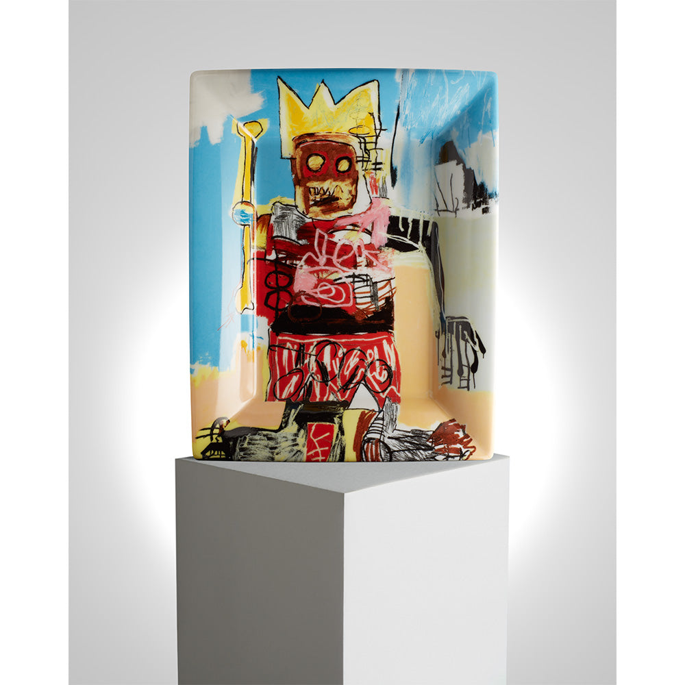 Yellow Crown and Bone Tray by Jean-Michel Basquiat