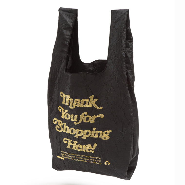 Thank You Bag (Black) by Lauren DiCioccio