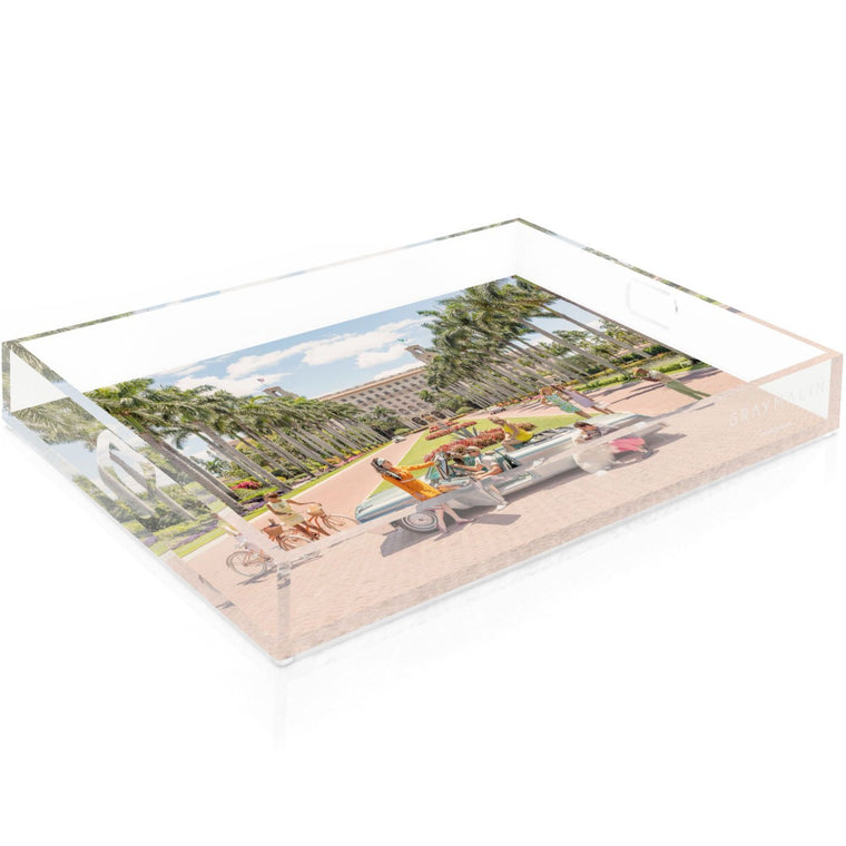The Breakers Palm Beach Tray by Gray Malin