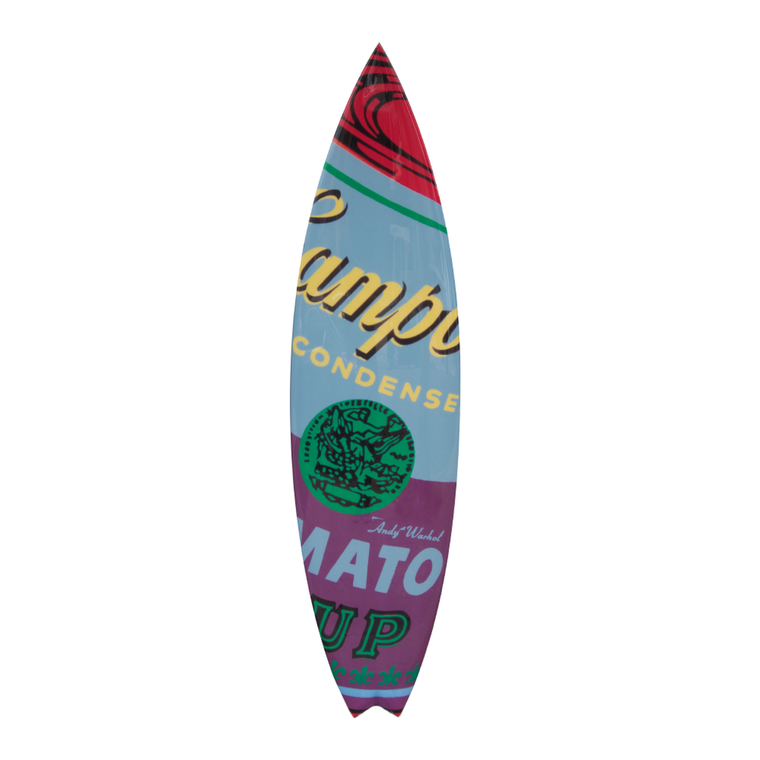 Campbells Surfboard by Andy Warhol