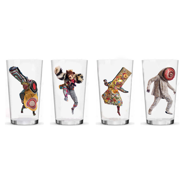 Pint Glasses by Nick Cave