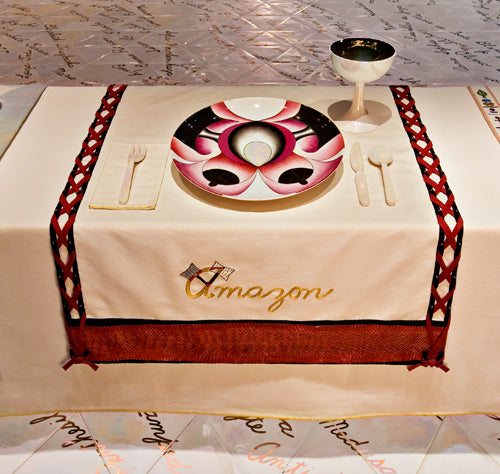 Amazon Plate by Judy Chicago