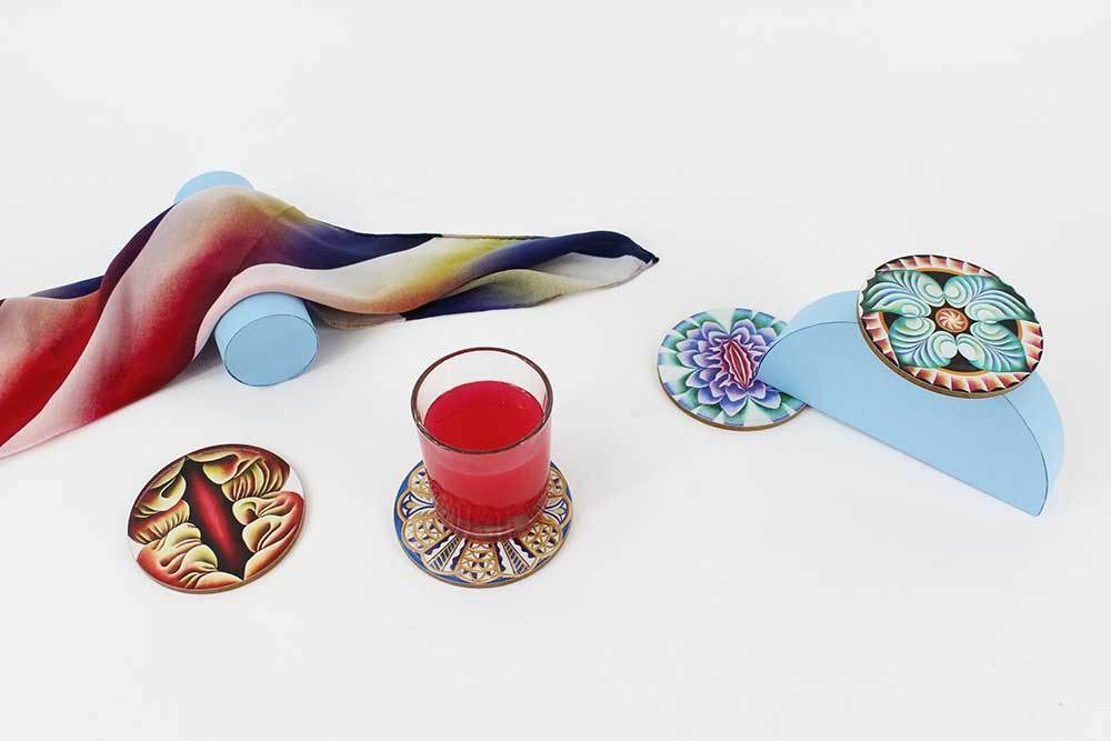 Coasters by Judy Chicago
