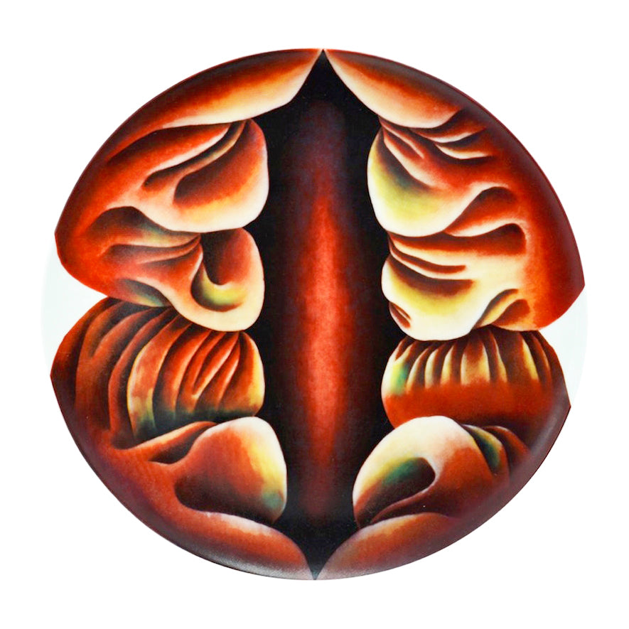 Primordial Goddess Plate by Judy Chicago
