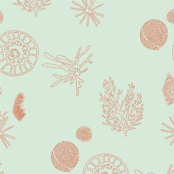 Microscopic wallpaper by Michele Oka Doner