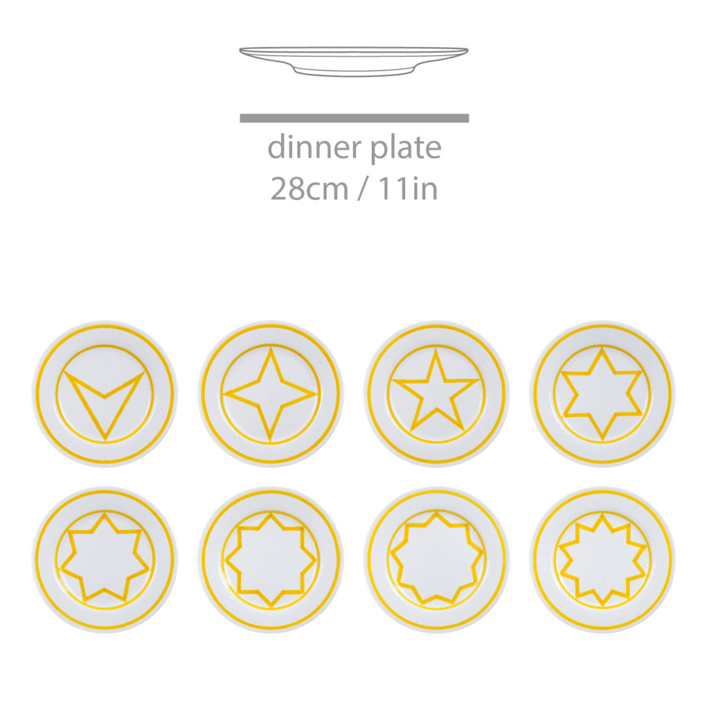 Star Within 2 Circles Dinner Service by Sol LeWitt