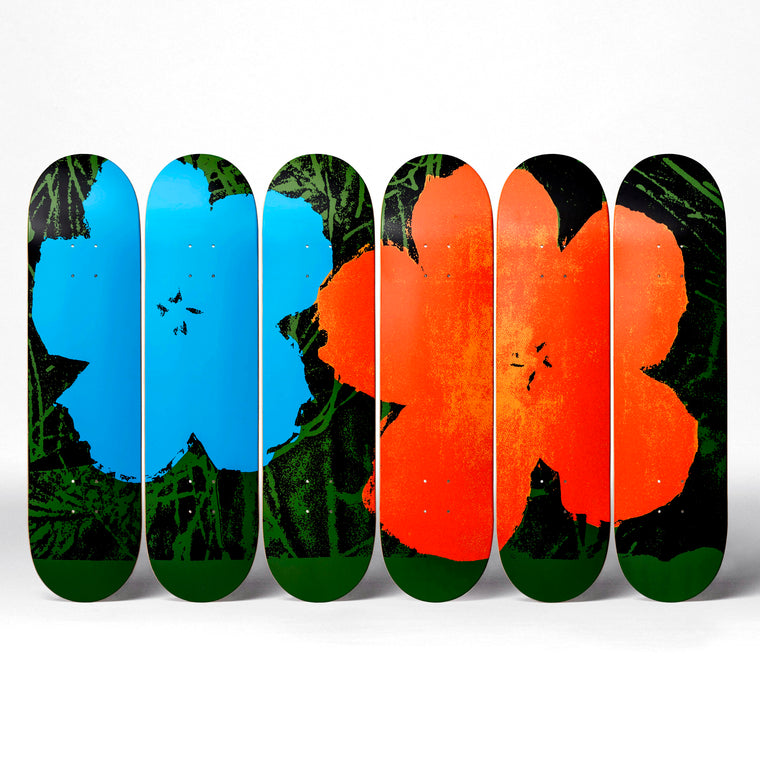 Flowers Skateboard Decks after Andy Warhol