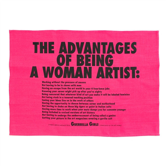 Domestic Art Kitchen Towel by Guerrilla Girls