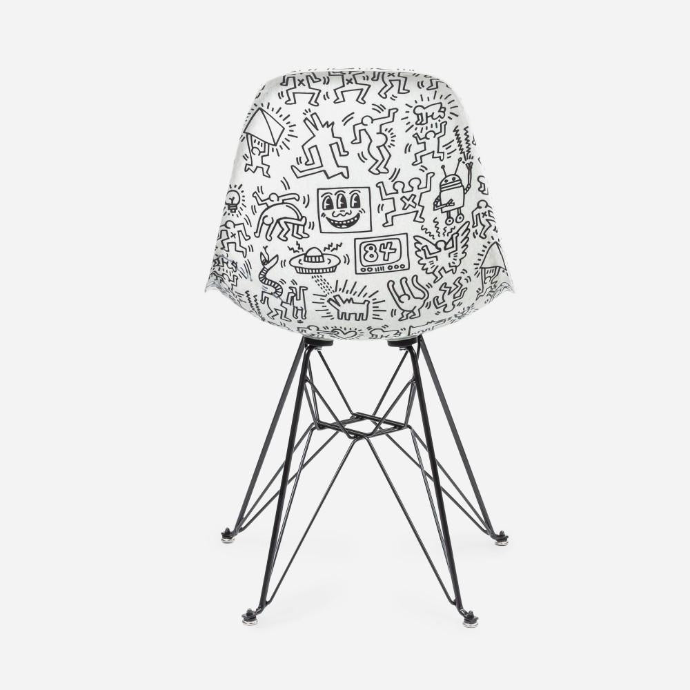 Set of four Keith Haring Case Study Furniture® Chairs
