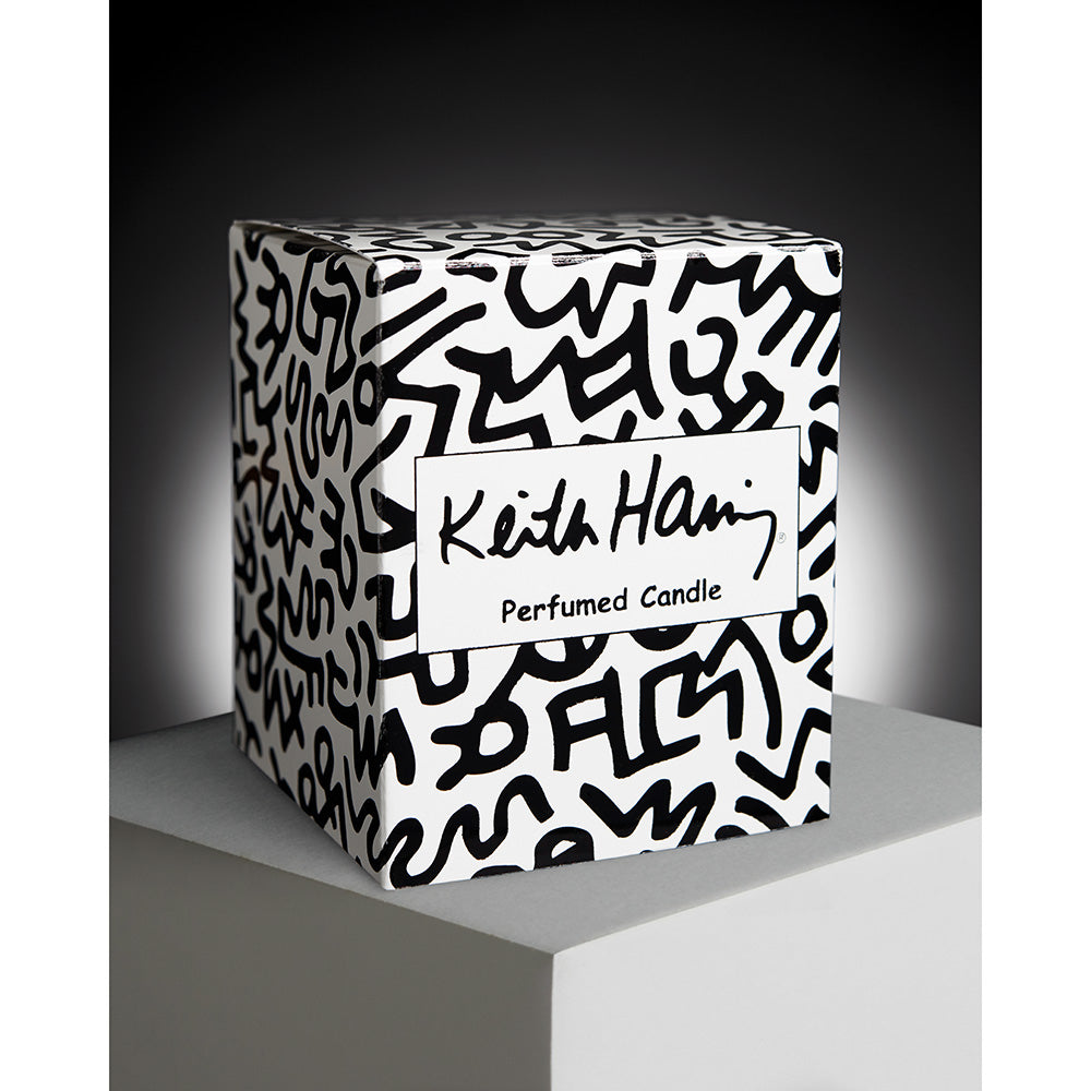 Red on White Candle by Keith Haring