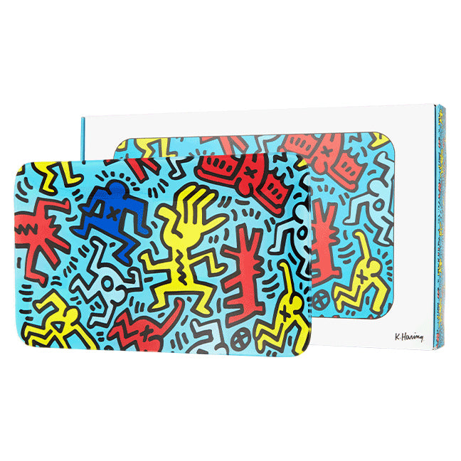 Tray (blue) by Keith Haring
