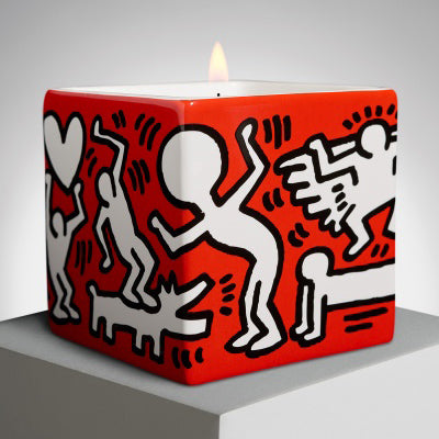 White on Red Candle by Keith Haring