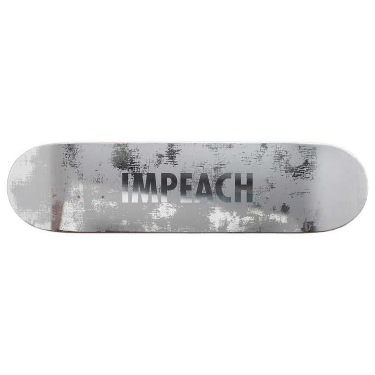 Impeach (Wood) Skateboard Deck by Jenny Holzer