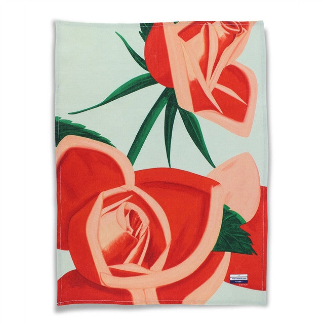 Red Rose Kitchen Towel by Alex Katz