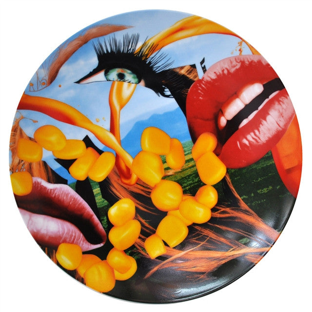 Lips Coupe Plate by Jeff Koons