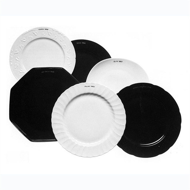 Forme Appliquee (Historique) Buffet Plates by Joseph Kosuth