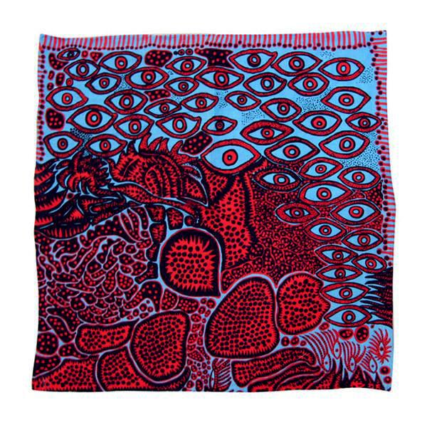 Eyes of Mine Handkerchief by Yayoi Kusama