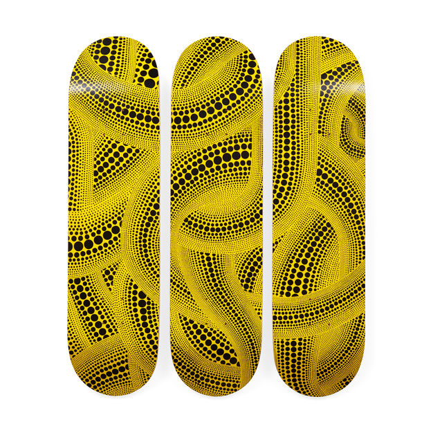 Yellow Trees Skateboard Decks by Yayoi Kusama