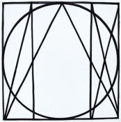 <i>Geometric Figures Superimposed</i> Tile by Sol LeWitt