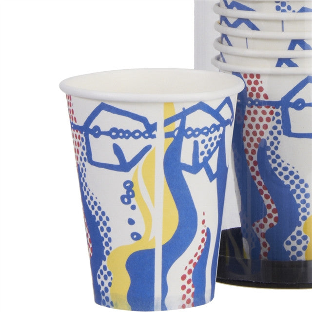 Paper Cup Set by Roy Lichtenstein