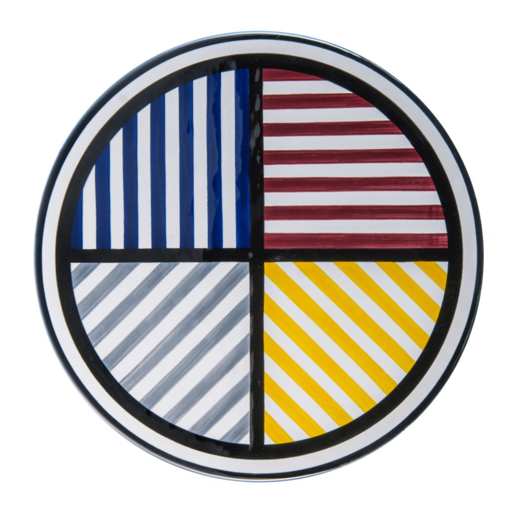 Lines in 4 Directions and 4 Colors Platter by Sol LeWitt