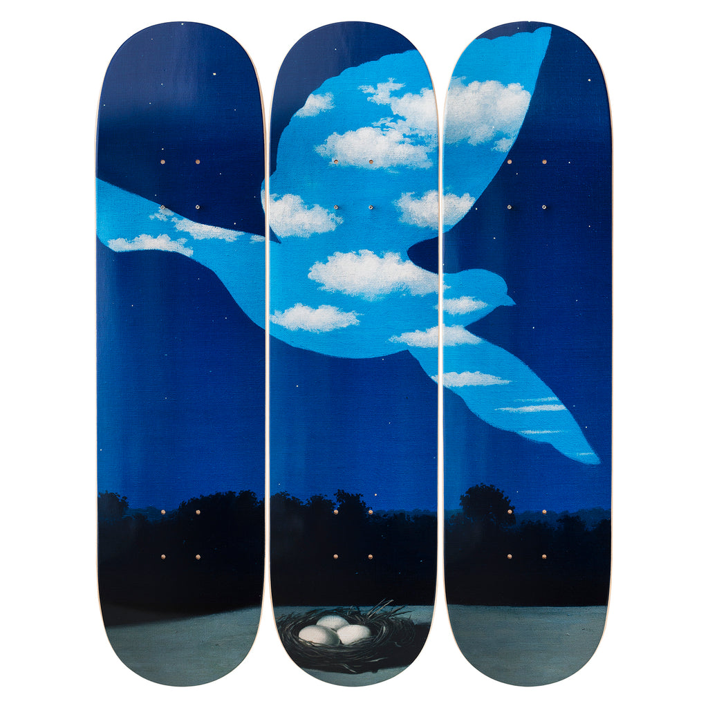 Le Retour Skateboard Decks after René Magritte