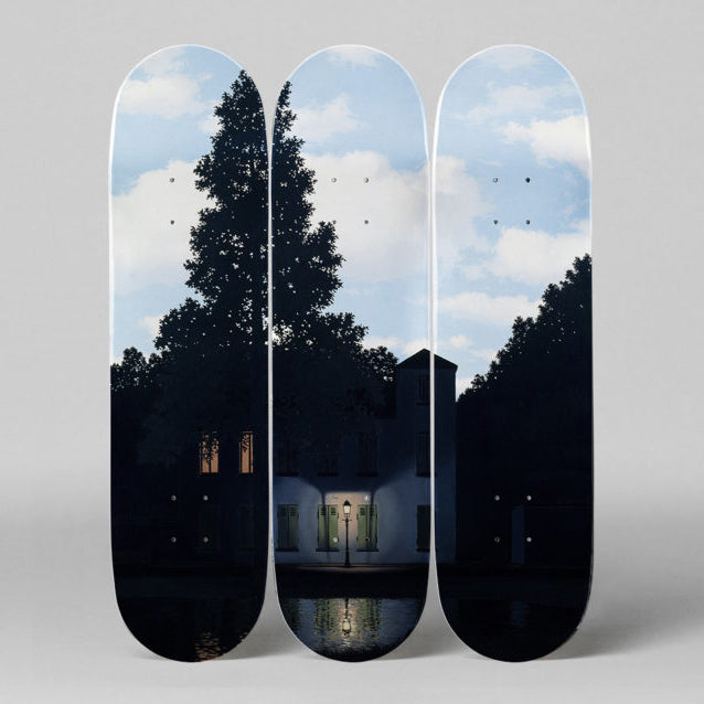 L'empire des Lumières Skateboard Decks by René Magritte