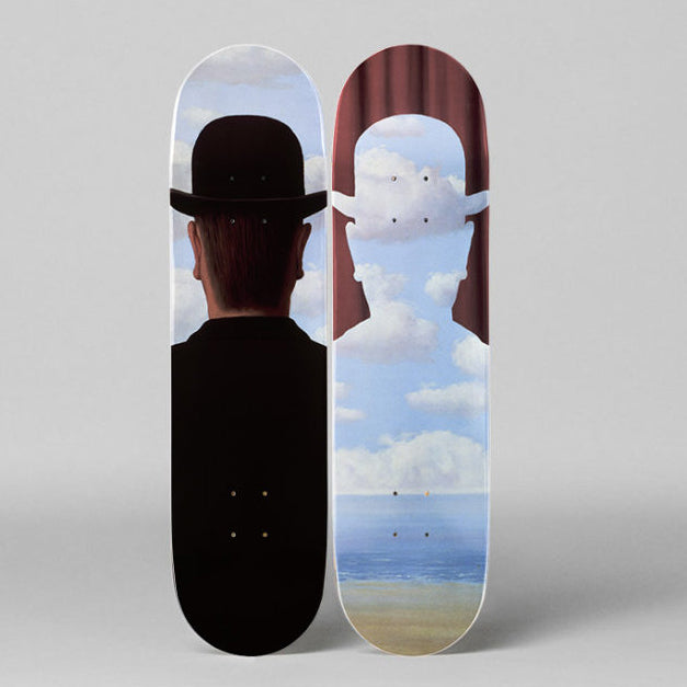 Décalcomanie Skateboard Decks after René Magritte