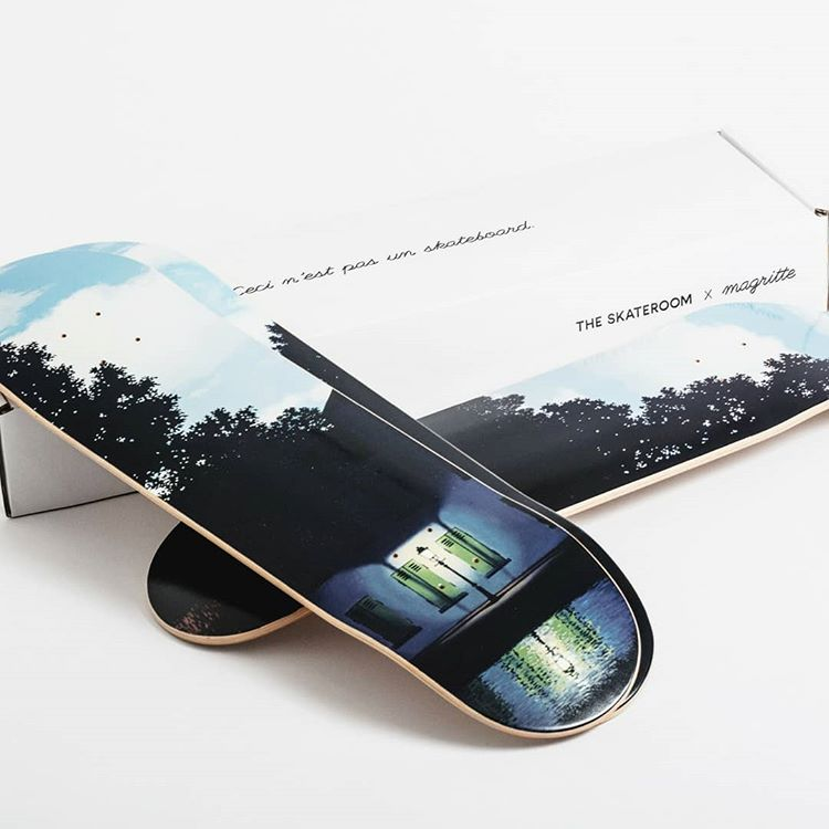 L'empire des Lumières Skateboard Decks after René Magritte