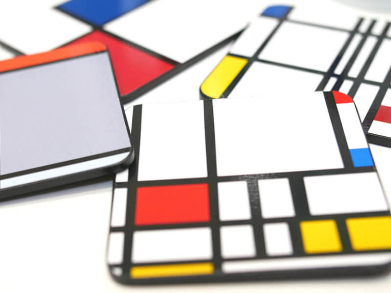 Coasters by Piet Mondrian