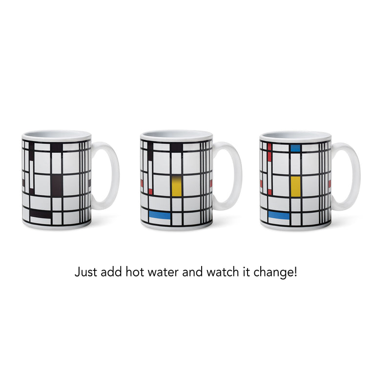 Color Changing Mug by Piet Mondrian