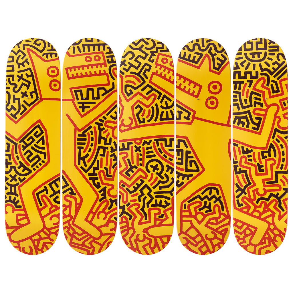 Monsters Skateboard Decks after Keith Haring