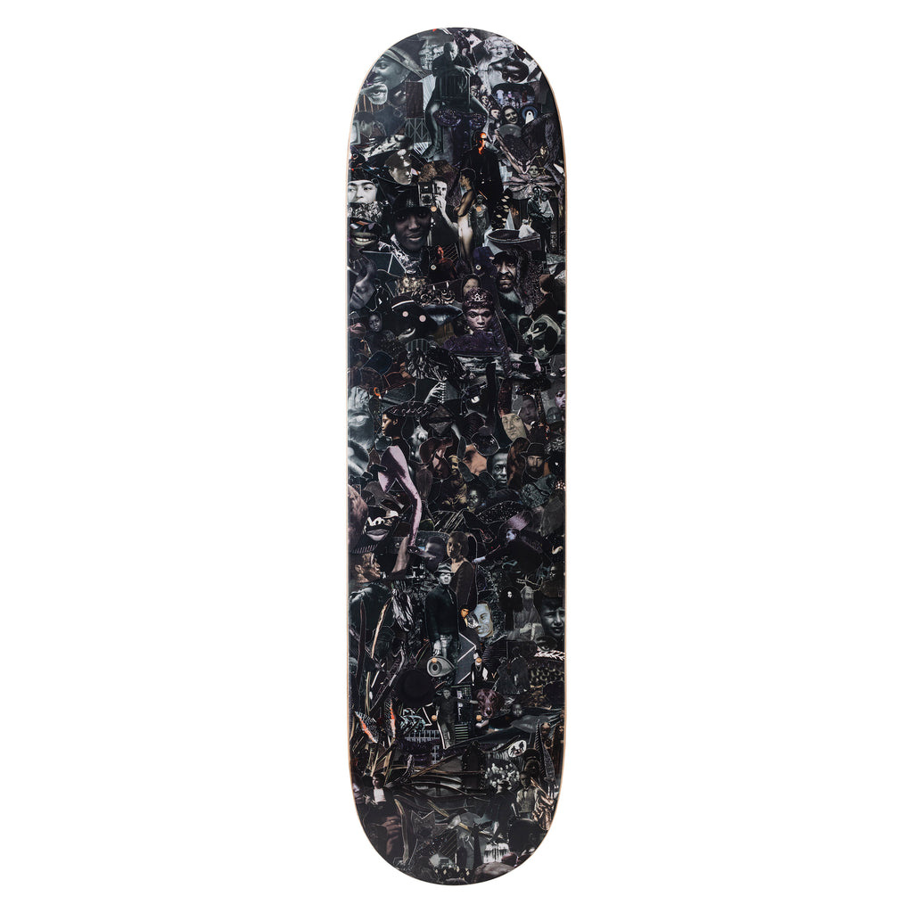Eight Color Spectrum Black Skateboard Deck by Vik Muniz