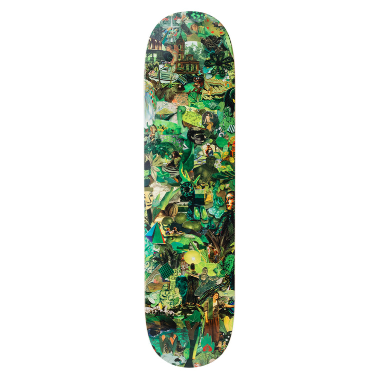Eight Color Spectrum Green Skateboard Deck by Vik Muniz