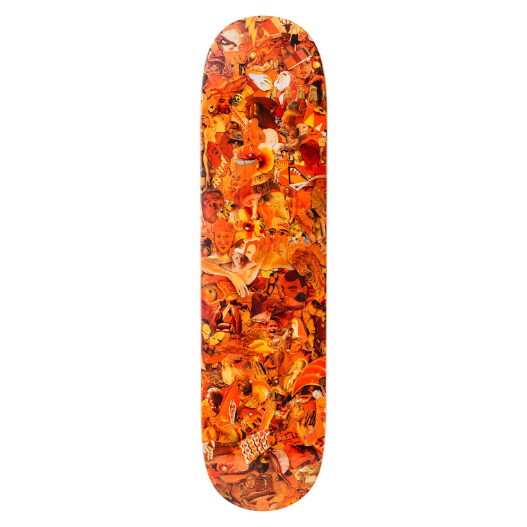 Eight Color Spectrum Orange Skateboard Deck by Vik Muniz