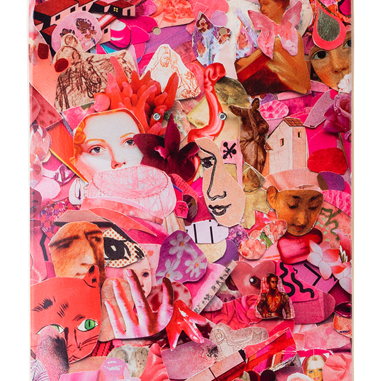 Eight Color Spectrum Pink Skateboard Deck by Vik Muniz