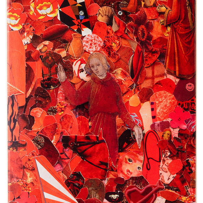 Eight Color Spectrum Red Skateboard Deck by Vik Muniz