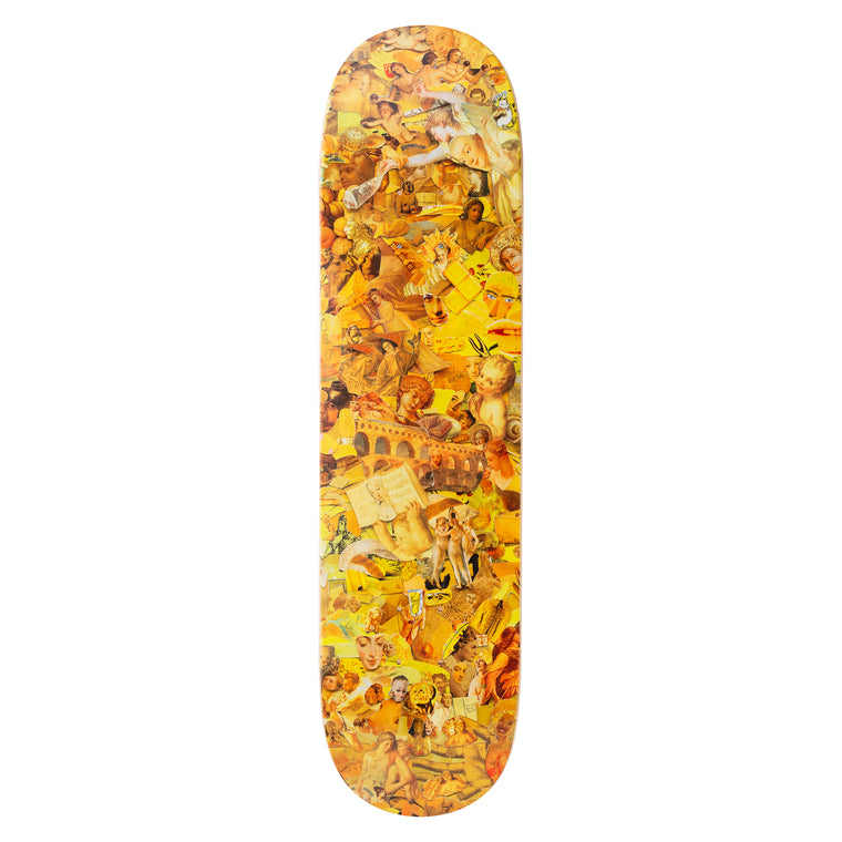 Eight Color Spectrum Yellow Skateboard Deck by Vik Muniz