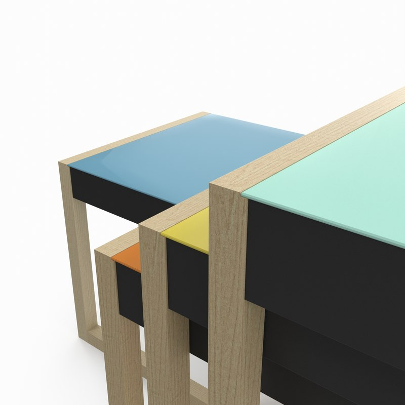 Nesting Tables by Josef Albers