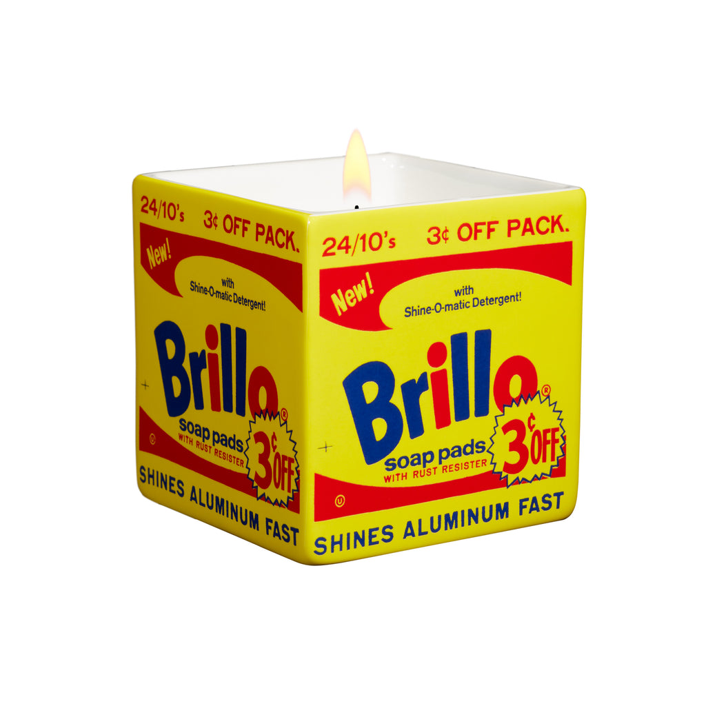 Brillo Box Candle (yellow) by Andy Warhol