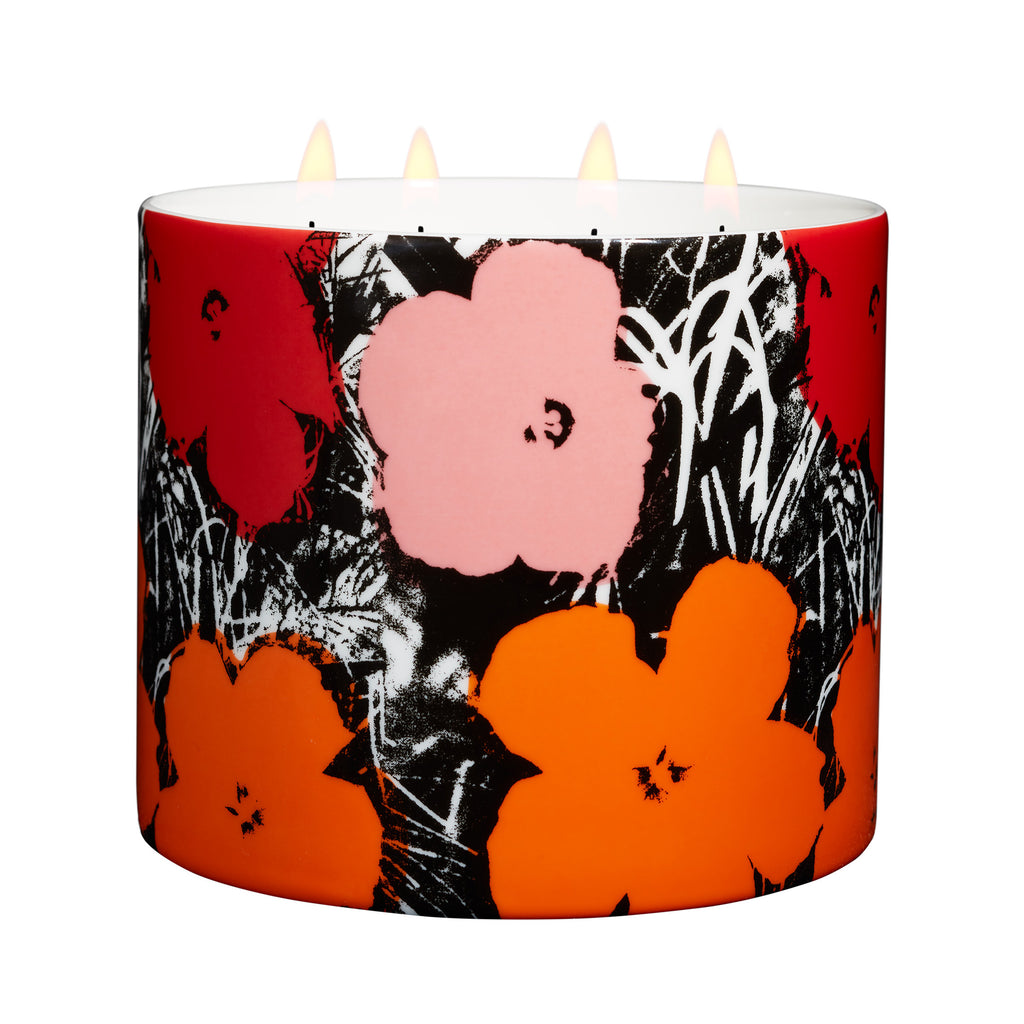 Flowers Candle (red/pink) by Andy Warhol