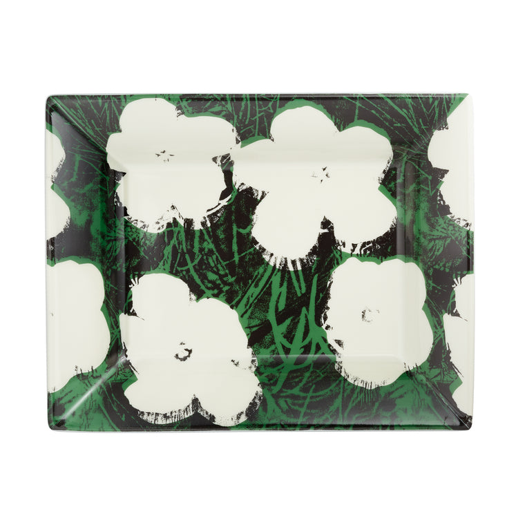 White Flowers Tray by Andy Warhol