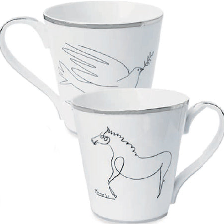 Horse and Dove Mug Set by Pablo Picasso