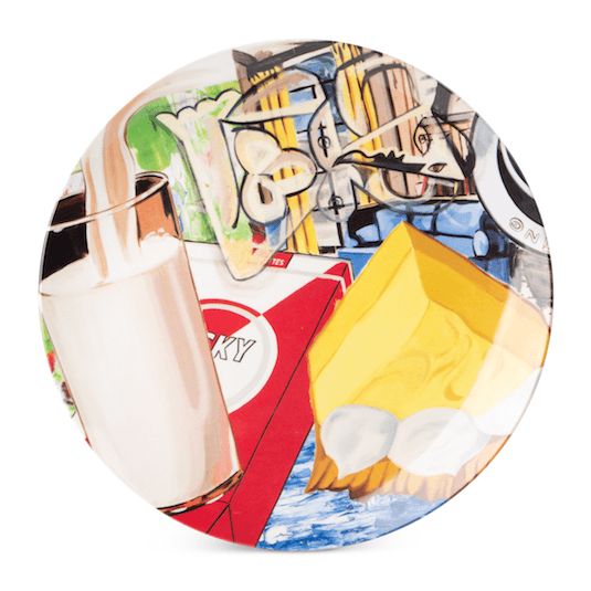 Yellow Fellow Plate by David Salle