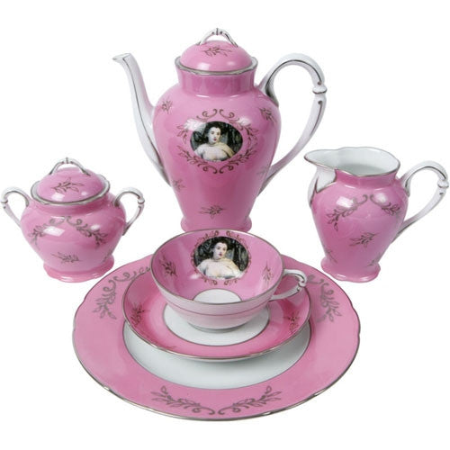 Madame de Pompadour (née Poisson)<BR> tea set by Cindy Sherman