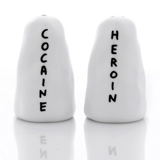 Salt & Pepper Shakers by David Shrigley