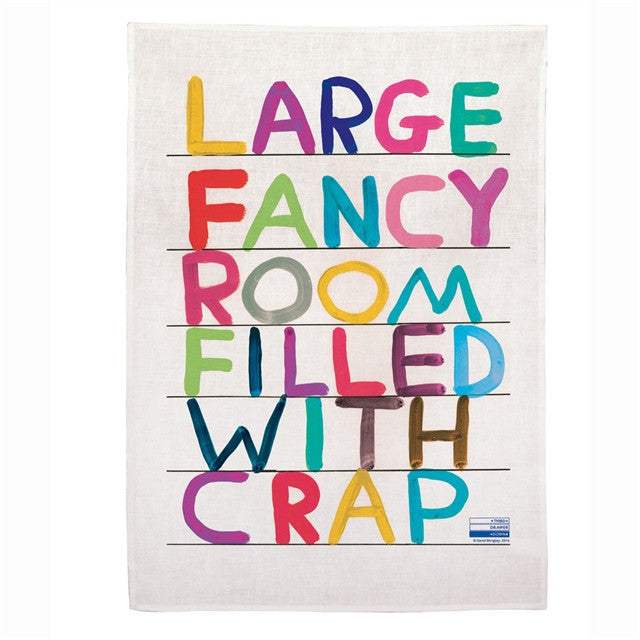 Tea Towel (Fancy Room) by David Shrigley